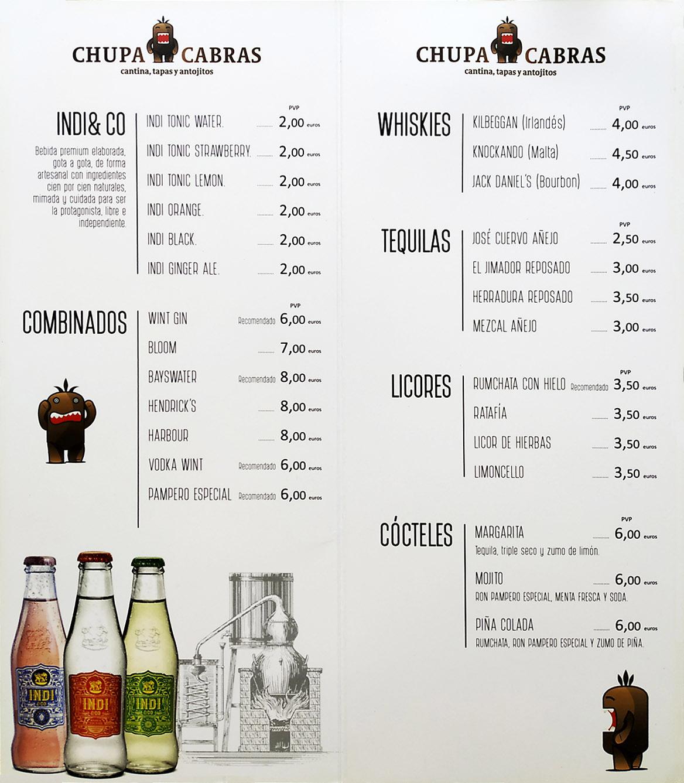 bebidas combinados y refrescos chupacabras