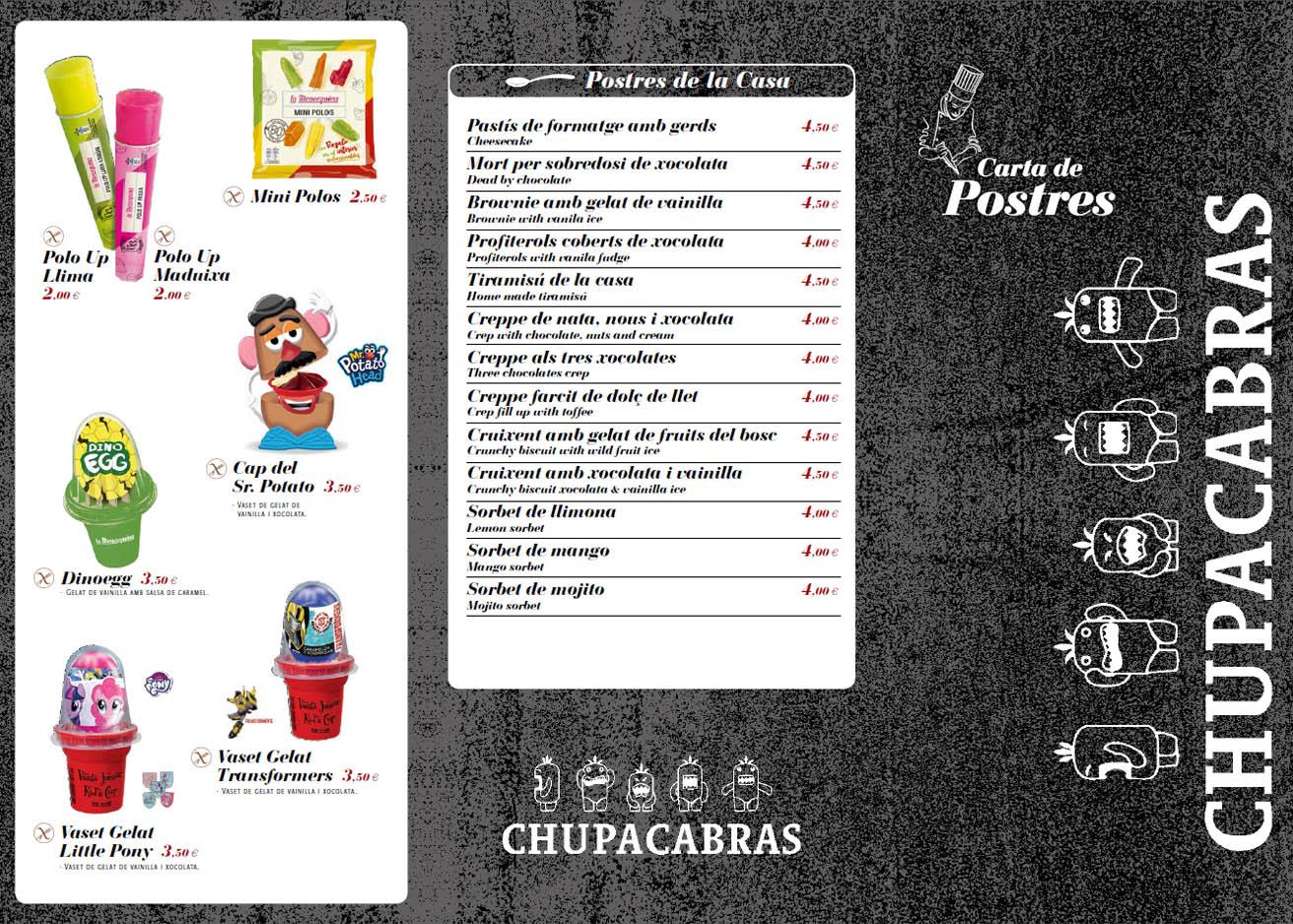 Postres del restaurante mexicano Chupacabras en Sant antoni en la Costa brava